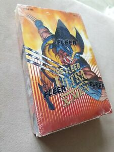 1995 Fleer ULTRA X-MEN Factory Sealed Box 36 Packs Wolverine 1994 Marvel