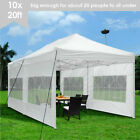 10'X20' Canopy Outdoor Gazebo Party Tent PVC Coated Oxford Fabric Fold shade