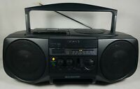1997 Sony CFD-V20 CD Radio Cassette-Corder Works Great! See Pics! Very Nice! VTG