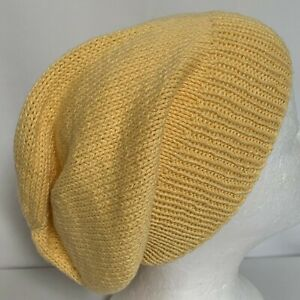 Unisex adult hand-knitted all cotton-62 slouchy-beanies sew-ezy-australia