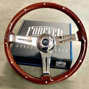 """18"""" Dark Steering Wheel Tri Spoke Rivet Freightliner, Kenworth, Peterbilt, Volvo"""