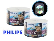 500 Philips 16x White Inkjet Hub Printable DVD-R Disc + 500 Clear Plastic Sleeve