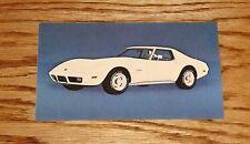 Original 1975 Chevrolet Corvette Postcard 75 Chevy