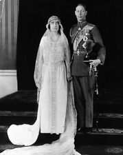 New 8x10 Photo: Future King George VI and Elizabeth Bowes-Lyon Wedding Portrait