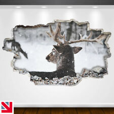 REINDEER SNOW ANIMAL DEER Wall Sticker Decal Vinyl Art A5
