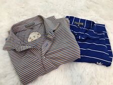 Peter Millar Polo Golf Shirts Lot Of Two Size Medium Summer Comfort The Slap