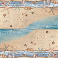 2 Serviettes en papier Plage et étoile de mer - Paper Napkins Beach & Sea stars