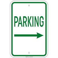"""Parking with Right Arrow Sign 8""""x12"""" Aluminum Signs Retail Store"""