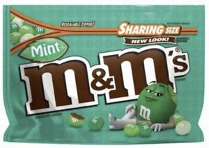 M&M'S MINT DARK CHOCOLATE CANDY SHARING SIZE 9.6 OZ BAG FREE SHIPPING