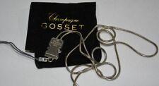 GOSSET CHAMPAGNE Tour de cou chainette clip bijou téléphone portable NEUF