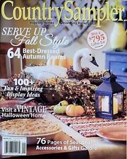 COUNTRY SAMPLER MAGAZINE SERVE UP FALL STYLE 64 AUTUMN ROOMS 76 PAGES 2018 NEW