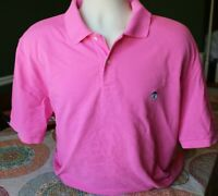 Brooks Brothers Men's Short Sleeve Polo Golf Pink Size XL