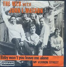 7inch THE WEB with JOHN L WATSON baby won't you leave me alone BELGIUM EX +PS