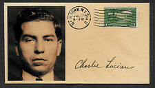 Lucky Luciano collector's envelope w original period stamp 82 years old! 655OP