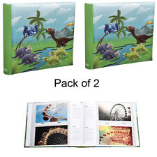 2XCute Dinosaurs Scene Slip In Memo  Photo Album' 6x4' For 200 PhotosAL-9155-2PK
