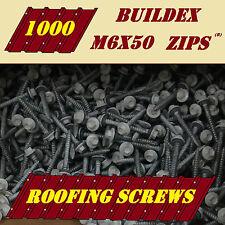 Roofing Screws for Metal or Timber 1000 M6x50 BUILDEX Roof Zips Tek Painted Seal