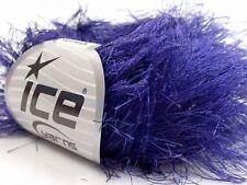 38Yd Purple Extra Long Eyelash Yarn Ice Luxurious Violet Fun Fur 13274 50gr