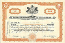 PENNSYLVANIA 1930, Kensington Security Bank & Trust Company Stock Certificate