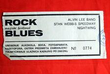ALVIN LEE NIGHTWING STAN WEBBS BLUES ROCK FEST TICKET