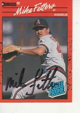 MIKE FETTERS SIGNED 1990 DOPNRUSS #35 - CALIFORNIA ANGELS