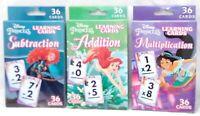 Flash Cards MATH Disney Princess Lot of 3 - Subtraction Addition Multiplication