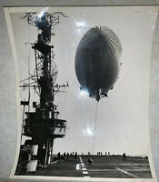 ACME Newspicture US Navy Airship Refueling In-Flight on Aircraft Carrier 5/14/51