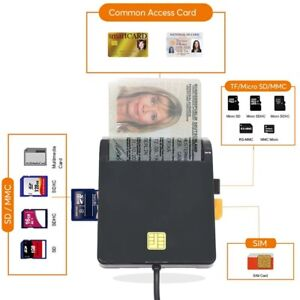 USB 2.0 Smart Card Reader CAC Common For ID Bank Sim Card Cloner Connector