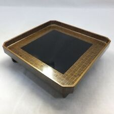 B281: Japanese real old lacquer ware dinner tray with elegant MAKIE