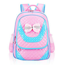 Cute Kids Girls PU Leather Backpack School Shoulder Bags Bowknot Backpacks Gift