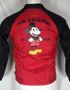 Vans x Disney Mickey Mouse Torrey Jacket Kids Boys Red Black Sz MEDIUM