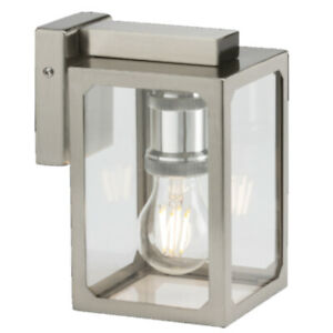 Modern Outdoor Wall Light Glass Lantern Style Lamp E27 IP23 Garden Lighting BC