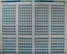 Mecanorma Dry Transfer Lettering Sheet A3, Typography, #67, Numerals 36N 10mm
