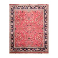 """8'3"""" x 10'1"""" Hand Knotted 100% Wool Lilihaan Traditional Oriental Area Rug Pink"""
