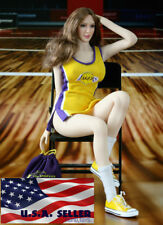 """1/6 NBA Lakers Cheerleader Costumes Set B For 12"""" PHICEN Hot Toys Figure ❶USA❶"""