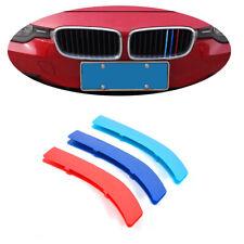 M Color Front Kidney Grille Strip Cover Clip For BMW 3 Series E90 E91 E46 13-18