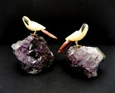 Amethyst Cluster with Yellow Adventurine Parrot RK25B1-04