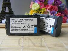 2X CGR-D120 D20 D08 Li-Ion Battery for CGR-D08R CGR-D08S NEW Panasonic Camcorder