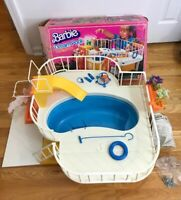 Vintage 1980's Barbie Ultra Deluxe Dream Pool w/slide includes Box Instructions