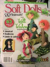 SOFT DOLLS & ANIMALS~Dec/Jan 2017 cloth doll patterns~techniques~tips magazine