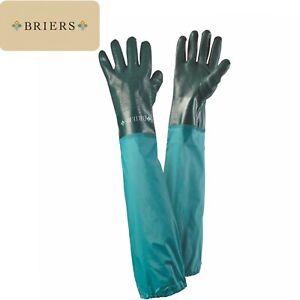 Briers Full Length Waterproof Drain Tank & Pond Garden Gloves Elasticated Cuff