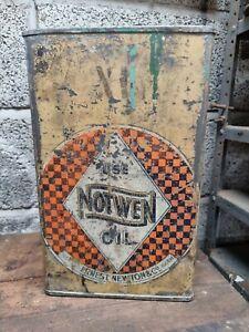 Rare Vintage Notwen Oils WD 1940 Drum Automobilia Garage Barn Original Shed