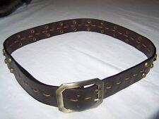 Marrón Cinturón Remaches - largo 85cm Ancho 4cm # gak