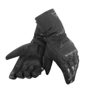 Dainese Tempest Unisex D-Dry Motorcycle Waterproof Textile Gloves - Black