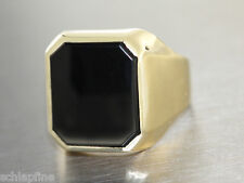 Ring Gold 585  - Ring in 14 kt Gold (585/000) mit 1 Onyx, Herrenring
