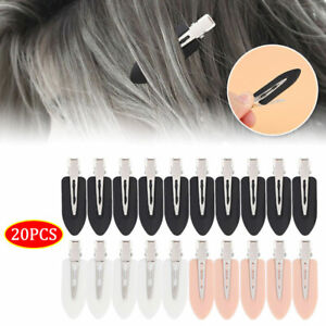 20Pc Women Girls Durable Hair Clips Barrettes Crease For Makeup Pin Curl Clips