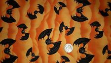 HALLOWEEN FABRIC BATS  FQ  Happy Haunting Henry Glass Jeepers Creepers Pumpkins