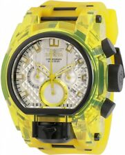Invicta Zeus Bolt Magnum Yellow & White Dual Time Chronograph Watch 29997