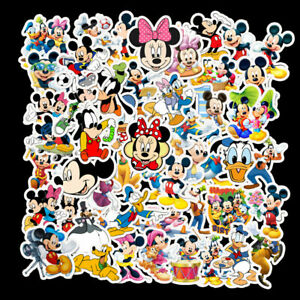 50  pcs Mickey Mouse and Friends Stickers bomb Vinyl Skateboard Luggage Laptop
