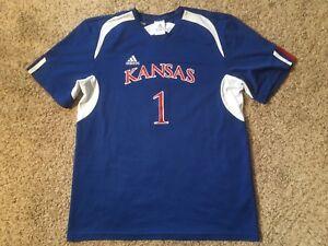 Kansas Jayhawks Mens Sz Small Performance Soccer #1 Football Jersey KU