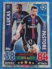 MATCH ATTAX CHAMPIONS LEAGUE 2015/2016 LUCAS - PASTORE  MIDFIELD DUO #72